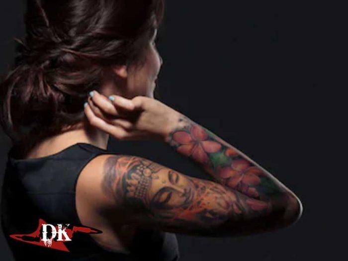 Mamak Kadın Kol Kaplama Dövmeleri