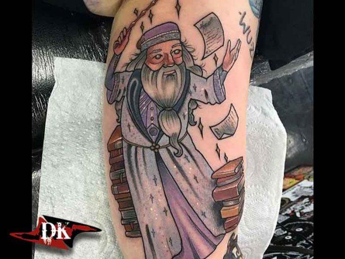 Albus Dumbledore Dövmesi