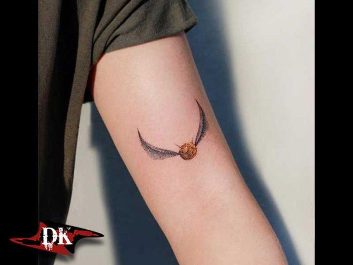 Golden Snitch Harry Potter Dövmesi
