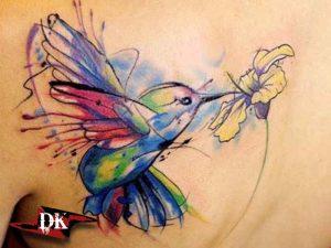 Renkli Kuş Dövmeleri